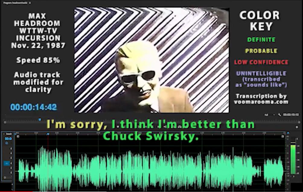 Max Headroom Incursion Audio Analysis